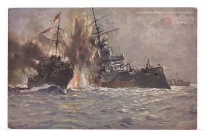 """Vernichtung des eng. Linienschiffes """"Triumph"""" [R]"""