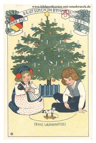 Image from object titled Bund der Deutschen in Böhmen 1894 - Frohe Weihnachten!
