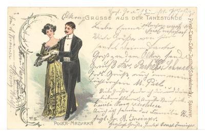 Grüsse aus der Tanzstunde - Polka-Mazurka - Privat-Tanz-Lehr-Institut Schwindowsky, Hannover