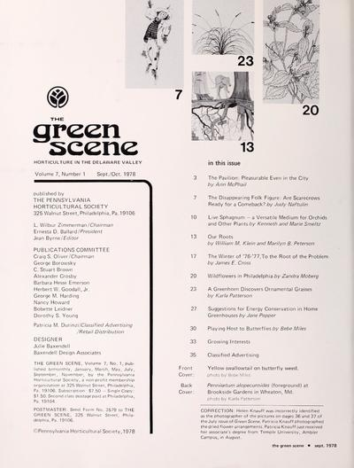 Image from object titled Green scene /; Green scene (Pennsylvania Horticultural Society : 1994)