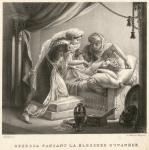 Rebecca pansant la blessure d'Ivanhoé
