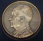 médaille commémorative du Pr Levaditi, ses amis, ses élèves