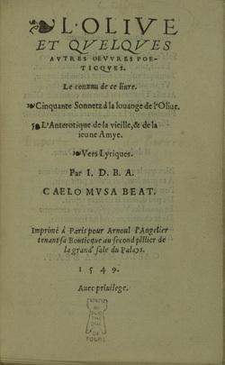 L'Olive et quelques autres œuvres poeticques