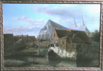 Binnengracht met achterzijde Bergkerk