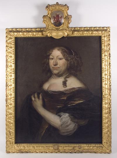 Portret van Margareta Tortarolis (1627-1681), vrouw van Hendrick de Sandra, gouveneur van de vesting Deventer