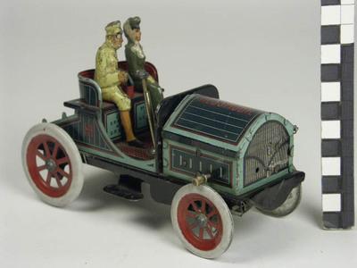 Auto met chauffeur en passagiere
