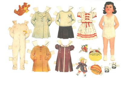 Vijf aankleedpoppen met kleren en accesoires, Dionne vijfling