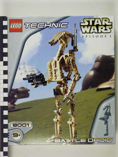 Lego system Bouwdoos Star-wars Episode 1 battle droid, Lego Technic 8001