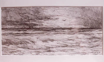 Storm op de Noordzee