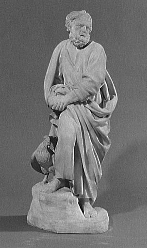 statuette ; pendant ; partie d'ensemble ; Saint Pierre repentant