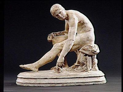 Image from object titled statuette ; Lutteur au repos déposant son ceste