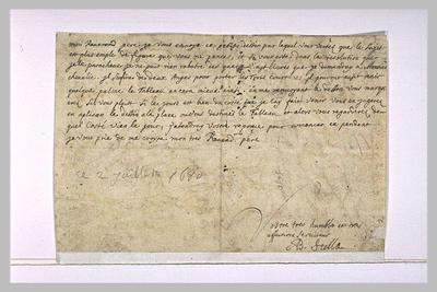 lettre (autographe) ; 2 juillet 1860, sans lieu, à un révérend père