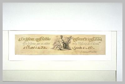 autographe ; Annotation manuscrite et figure allégorique