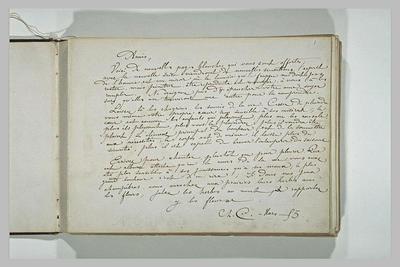 lettre (autographe) ; album ; Sans date, sans lieu, à ses amis, Fantin-Latour, Ottin, Solon, Legros,...