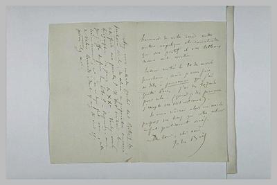 Image from object titled lettre (autographe) ; album ; Sans date, sans lieu, de Jules Bois à Schuffenecker
