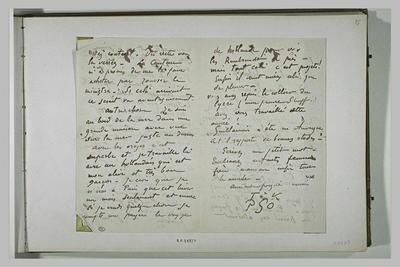 lettre (autographe) ; album ; (Octobre) 1889, Finistère, à Schuffenecker