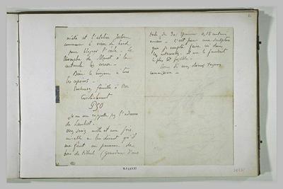 lettre (autographe) ; album ; 9 septembre 1890, Finistère, à E. Schuffenecker