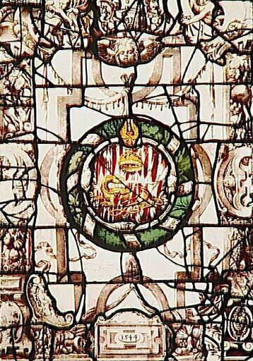 Vitrail aux armes de François 1er