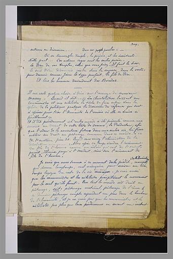 album ; Texte manuscrit