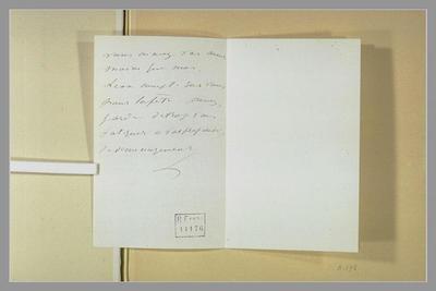 lettre (autographe) ; album ; 9 juillet (1880), Bellevue, à Isabelle Lemonnier