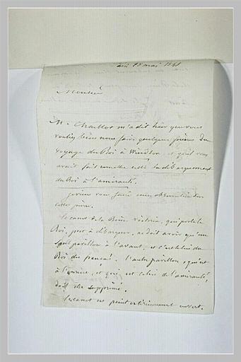 lettre (autographe) ; album ; Lettre manuscrite