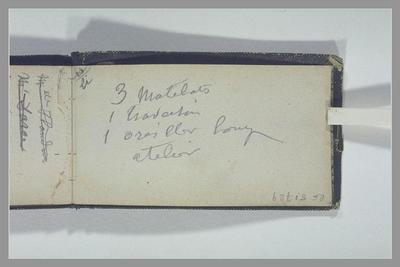 album ; Notes manuscrites