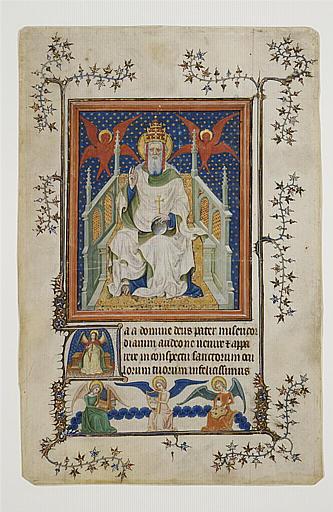 Feuillet de manuscrit représentant Dieu le Père