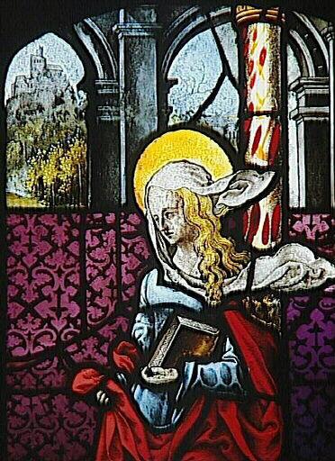 Vitrail des alérions, Marie Salomé