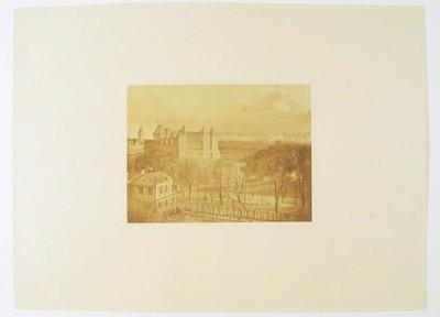 tirage photographique ; Château de Pau et Basse Plante (vus depuis le cours Bayard)