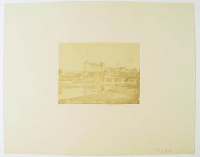 tirage photographique ; Vue du château depuis Jurançon (titre factice)
