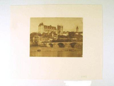 tirage photographique ; Le Château de Pau vu depuis Jurançon