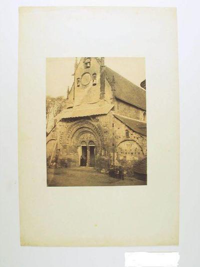 tirage photographique ; Portail de l'Eglise de Morlaàs