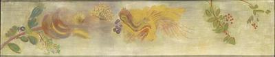tableau ; Frise de fleurs et baies