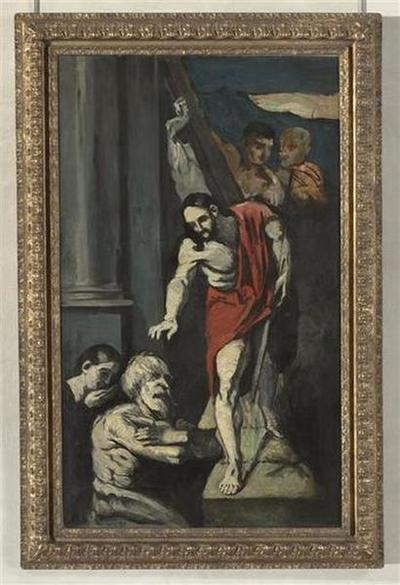 tableau ; peinture murale ; Le Christ aux limbes