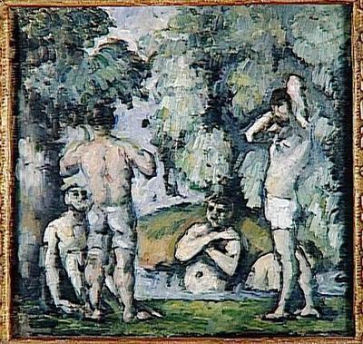 tableau ; Les cinq baigneurs
