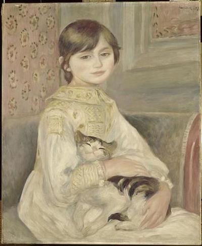 tableau ; Julie Manet ; L'enfant au chat
