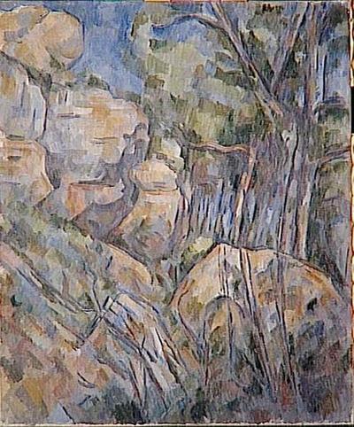 Image from object titled tableau ; Rochers près des grottes au-dessus du Château-Noir