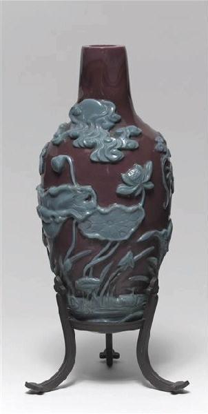 vase ; socle