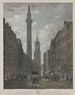 View of Fish Street Hill from Gracechurch Street, showing the Monument and the Church of St. Magnus London Bridge