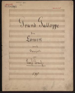 Grand Galloppe du Concert pour le Pianoforte / von Josef Strauss