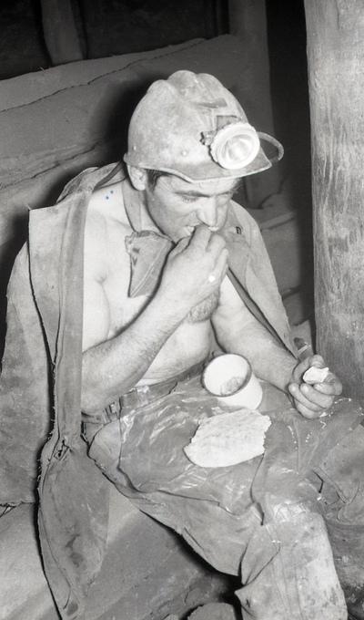 Image from object titled Портрет рудара за време ручка у борској јами