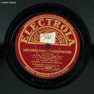 Image from object titled Lied eines jungen Wachtpostens