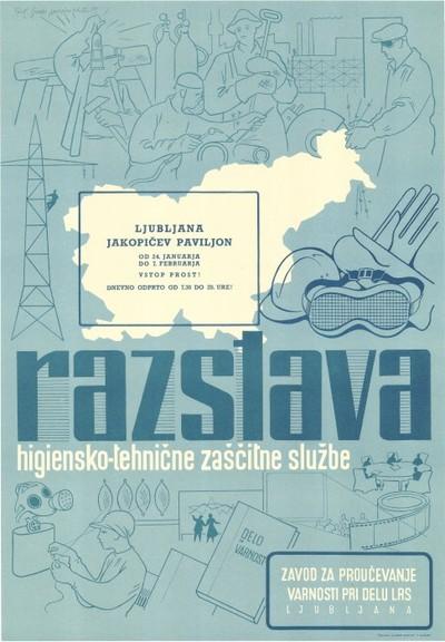 Image from object titled Razstava higiensko-tehnične zaščitne službe, Ljubljana, Jakopičev paviljon, od 24. januarja do 7. februarja