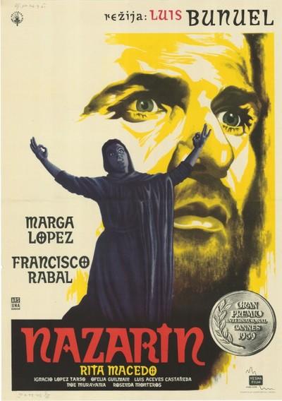 Image from object titled Nazarin; režija Luis Bunuel, igrajo Marga Lopez, Francisco Rabal