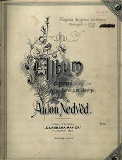 Image from object titled Album 12 pesmi za višji glas s spremljevanjem klavirja