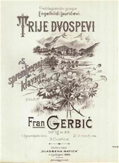 Image from object titled Trije dvospevi s spremljevanjem klavirja, op. 17 in 33