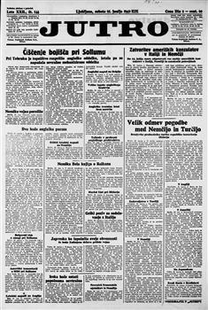 Image from object titled Jutro:dnevnik za gospodarstvo, posveto in politiko