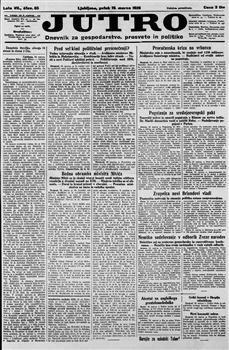 Image from object titled Jutro: dnevnik za gospodarstvo, prosveto in politiko