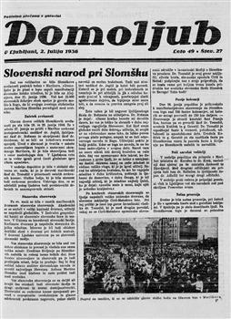Image from object titled Domoljub: slovenskemu ljudstvu v poduk in zabavo