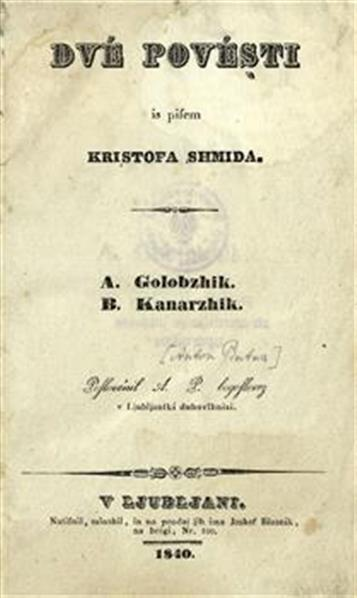 Image from object titled Dvé povésti is pisem Kristofa Shmida
